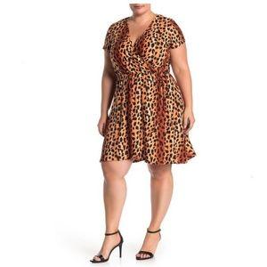 NWT Planet Gold Plus size Animal Leopard Dress